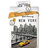 New York Taxi Kinder Bettwäsche 2-teilig, 70 x 80 cm, 140 x 200 cm Baumwolle 100 %