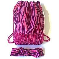 Zaino donna-Zainetto-Borsa in tela/disegno e modello esclusivo fatte a mano da El Taller de Mis Nubes/Stampa fusoliera e zebra viola per donna/regalo donna-regali per lei-regali mamma