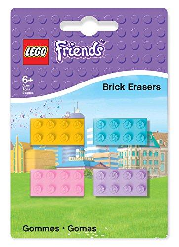 Lego 51608 - Friends Radierer Baustein, 4 Stück