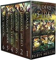 Riders of Fire Complete Series Box Set books 1-6: YA Epic Fantasy Dragon Rider Adventures (English Edition)