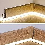 Supporto Battiscopa Con Inserto LED – 1 Asta Da 240 Cm