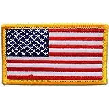 Parches - USA ARMY bandera - blanco - 7,5x4,7cm - termoadhesivos bordados aplique para ropa