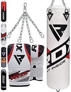 RDX Boxsack Set Gefüllt Kickboxen MMA Muay Thai Boxen mit Stahlkette Training...