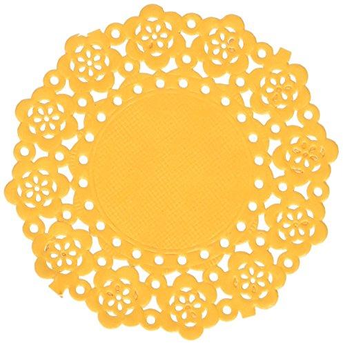 Doodlebug Mini Doilies 75/Pkg-Tangerine