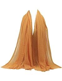 40a871e898b AIMEE7 Femmes Écharpe en Coton Linge Musulman Doux Enveloppement Long  Foulard Châle