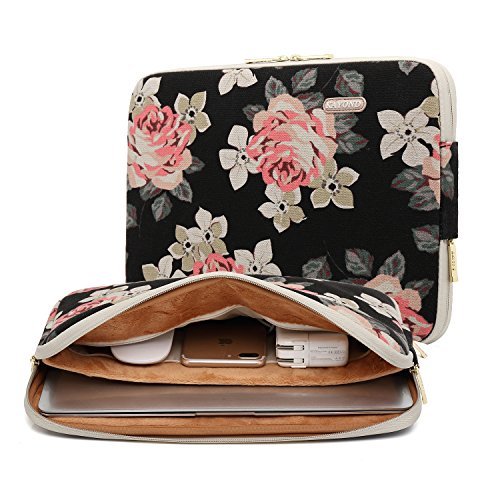 kayond-rose-pattern-13-inch-canvas-water-resistant-laptop-sleeve-with-pocket-13-inch-133-inch-laptop