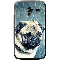 Funda de Pug para teléfonos móviles, plástico, Pug In The Rain, Samsung Galaxy Ace 2