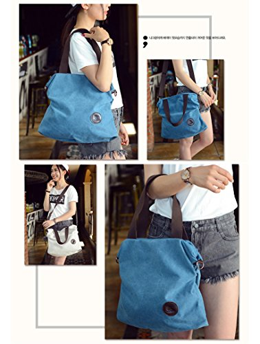 Yokeeyoo, Borsa a spalla donna blu Blue Misura unica Blue
