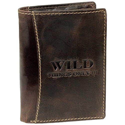 Bag Street Herren Geldbörse rustikal Rindleder 5452 Leder Farbe: Braun