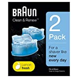 Braun Clean&Charge Cartucce di Ricarica per Rasoio da Barba Elettrico, Compatibili con tutte le Stazioni Braun SmartCare e Clean&Charge, 2 Confezioni