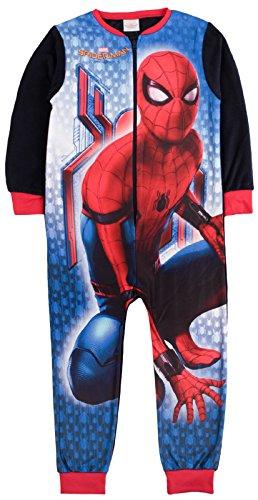 Kinder-Pyjama aus Vlies mit Aufdruck, Einteiler, Alterstufe: 1–8Jahre Gr. 5-6 Jahre, Marvel Spiderman - Spiderman