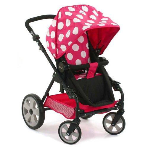Preisvergleich Produktbild Hauck D88844 i'coo Puppenwagen-Spielset Grow with me, Dotty Pink