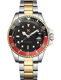 aokulasic Mens pulsera reloj de pulsera automático para hombre con 100 FT impermeable y Classic pantalla