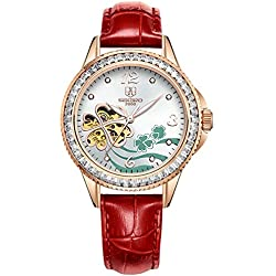Fashion Lady watch/Automatic mechanical watches/Hollow out waterproof women's table-C