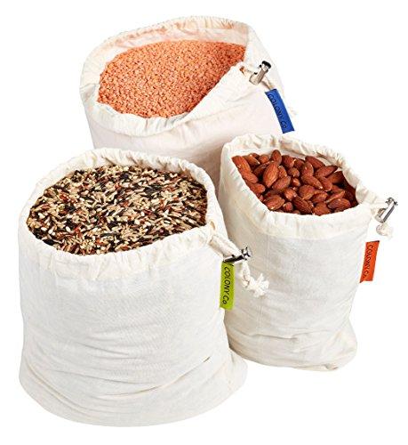 Colony Co. Bolsas Reutilizables Alimentos Granel