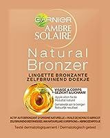 Garnier - Ambre Solaire - Autobronzant - Lingettes Visage Naturel Bronzeur - Lot de 8