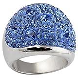 Coniea Ringe für Damen Edelstahl Klebrige CZ-Set Solide Klassische Blaue Fingerbänder Damen Ring Verlobungsring Größe 57 (18.1)