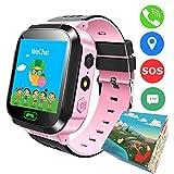 TDH enfants montre intelligente GPS, 1.44 pouce tactile anti-perdu montre intelligente pour enfants filles garçons avec caméra SIM appels SOS bracelet montre intelligente