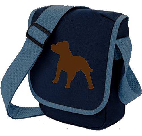 Bag Pixie, Borsa a spalla donna Brown Dog on Blue