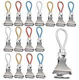 16 Stück Handtuch Clips Handtücher Geschirrtücher aufhängen Handtuchclips Clips