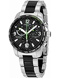 Certina Men's Quartz Watch with Black Dial Chronograph Display and Silver Stainless Steel C001,639,22,207,02 XL
