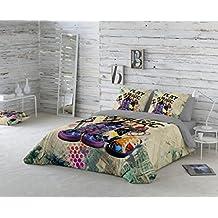 COTTON ART- Funda Nórdica PLAY MUSIC. Cama de 90 (150X260cm)+ 1 FUNDA DE ALMOHADA (45X110cm). ALGODÓN 100%. Disponible para cama de 90 y 105.
