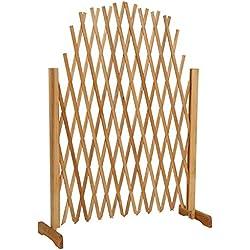 Decorativa y extensible valla enrejada de madera para plantas