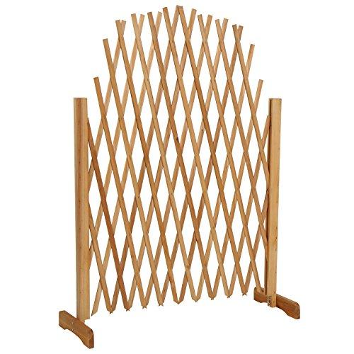 jago pflanzengitter rankhilfe rankgitter blumenranke pflanzenzaun aus robustem holz max 180 cm. Black Bedroom Furniture Sets. Home Design Ideas