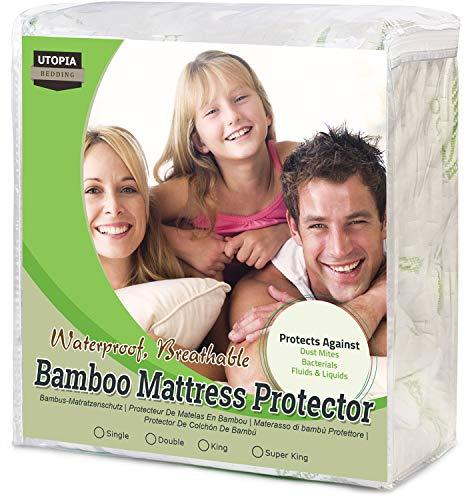 Utopia Bedding Protector colchón Impermeable bambú