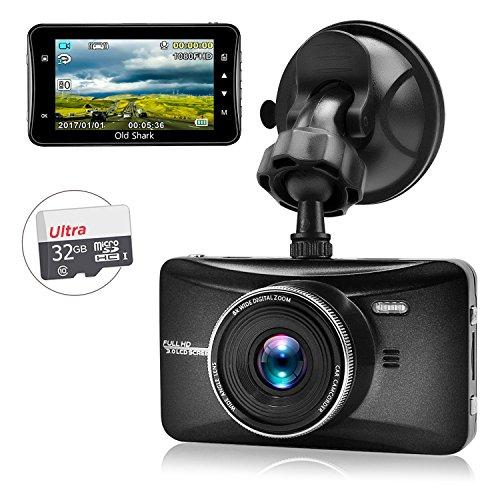 oldshark salpicadero cámara 1080P Full HD de coche Dash Cam 170grados de...