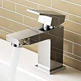iBathUK Cloakroom Basin Sink Mixer Tap Chrome Modern Bathroom Faucet TB3200