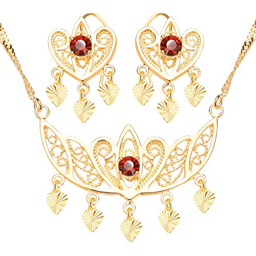 Luxury-Crown-Shape-Jewelry-Set-Red-Ruby-18k-Gold-Plated-Fashion-Necklace-Earrings-Bridal-Gift-For-Women-S20152