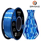 PLA Filament 1.75mm Silk Blue, Eyone Silky Shiny Filament PLA 1.75mm, 3D Printing Filament PLA for 3D Printer and 3D Pen, 1kg 1 Spool