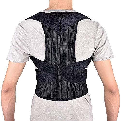 Oberer Rücken Schulter Lendenwirbelsäule Taille Stützgürtel für Männer und Frauen, Rückenstütze Körperhaltung Korrektor für Rückenschmerzen size M