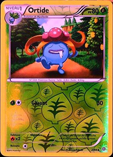 carte Pokémon 2/98 Ortide 80 PV - REVERSE XY - Origines Antiques NEUF FR