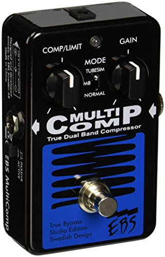 EBS EBSMCSE MultiComp Studio Edition, analog Compressor, 3 Soundmodes (Bass Kompressor Pedal)