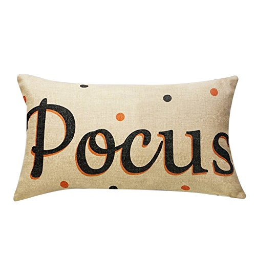 TTLOVE Halloween Pillow Cases Linen Sofa Pumpkin Ghosts Cushion Cover Home Decor Leinen KissenbezüGe KüRbis Geister Kissenbezug Protektoren Bunte BettwäSche Abdeckung ()