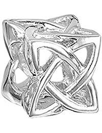 Materia 925 cuentas de plata celta dados - European Beads colgante Celta nudo Element para pulsera #267
