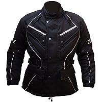 Protectwear Chaqueta de moto, chaqueta textil WCJ-101, negro Talla 62/5XL