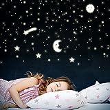 Wandkings Sonne, Mond und Sterne, 166 Sticker für Sternenhimmel, extra starke...
