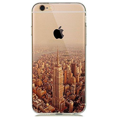 Apple iPhone ® 6 / 6s 4,7 Zoll Schutz Hülle - Case in wunderschönem Design - Aus weichem und transparentem TPU - Nur 0,3mm dünn - Schützt nur vor Schmutz und Kratzern - Empire State Building