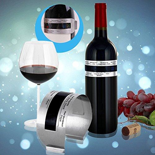 Hoard Edelstahl Wein-Armband Thermometer 4-26 Grad Rotwein Temperatursensor