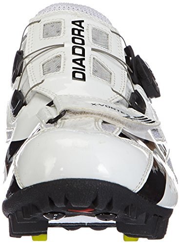 Diadora X- Vortex Unisex-Erwachsene Radsportschuhe - Mountainbike Weiß (weiß/schwarz 3510)