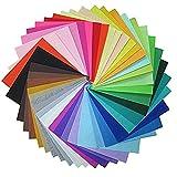 42 Colores Suaves Hoja de Tela de Fieltro, Felt Fabric Sheets,Fieltro No Tejido Tela para Patchwork Costura DIY Craft Trabajo (20 x 30 cm)