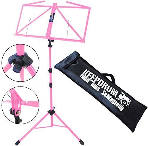 KEEPDRUM MUS3 PK Notenständer Pink Rosa mit Tasche