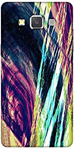 Snoogg Abstract Paint Designer Protective Back Case Cover For Samsung Galaxy A7