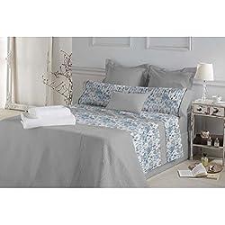 Don Algodón.- Juego de sábanas Marie color Azul para cama de 150