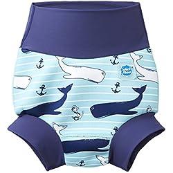 Splash About Couche de nage - Unisexe Bébés - Bleu ( Vintage Moby ) - 2-3 ans