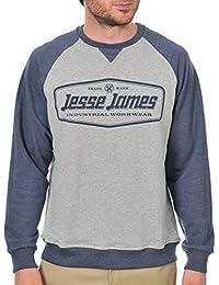 Suéter Jesse James Industry Raglan Gris Melange-azuloscuro