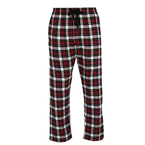 Hanes Herren Pyjamahose Big and Tall Flanell Lounge Gr. 3X, rot kariert -
